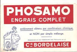 Buvard PHOSAMO ENGRAIS COMPLET Cie BORDELAISE - Agriculture