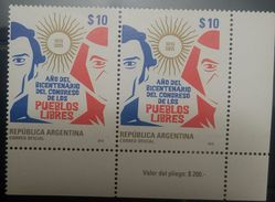 L) 2015 ARGENTINA, JOSE GERVASIO ARTIGAS, YEAR OF THE BICENTENARY OF THE CONGRESS OF THE FREE PEOPLES, 1815 - 2015 - Unused Stamps