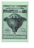 18050 - Jardin Des Tuileries Inauguration Dynamiteuse Des Airs Ballon Militaire Reproduction - Montgolfières