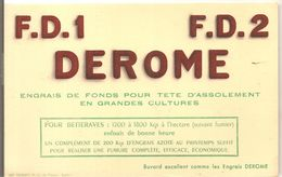 Buvard DEROME F.D.1 F.D.2 Engrais De Fonds Pour Tête D'assolement En Grandes Cultures - Agriculture