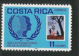 1985  Costa Rica Scouts Youth Year  Complete Set Of 1   MNH - Costa Rica