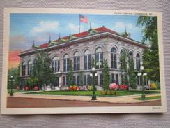 Public Library, Galesburg, Illinois. Curteich OB-H772 - Etats-Unis