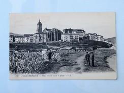 C.P.A. FUENTERRABIA : Vista Tomada Desde La Playa, Militarios - Guipúzcoa (San Sebastián)