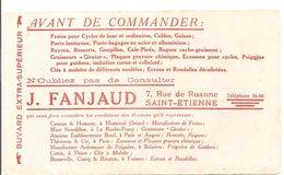 Buvard J.JANJAUD 7, Rue De Roanne à Saint-Etienne Freins Pour Cycles De Luxe Et Ordinaire - Moto & Vélo