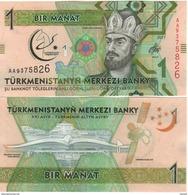 TURKMENISTAN   New.  1  Manat.  Commemorative Asian Olympics.  2017 UNC - Turkmenistan