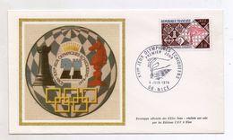 Francia - 1974 - Busta FDC -XXI° Giochi Olimpici Scacchi - Con Annullo Filatelico - (Vedi Foto) - (FDC6129) - Scacchi
