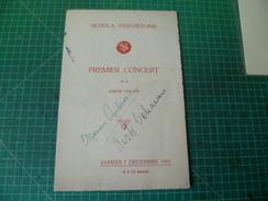 Belle Dédicace Autographe De Marian Anderson Et Kosti Vehanen Sur Un Programme De La Schola Ververtoise  7 Décembre 1935 - Autografi