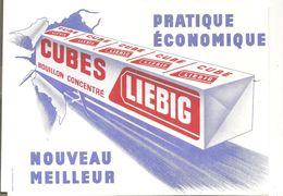 Buvard LIEBIG Cubes Bouilllon Concentré Pratique Econonomique Nouveau Meilleur - Potages & Sauces