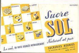 Buvard SOL Sucre SOL Naturel Et Pur Le Seul, En Boite Doublée Intérieurement - Potages & Sauces