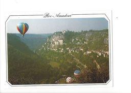 18063-  Montgolfière A Travers Le Lot Rocamadour - Montgolfières