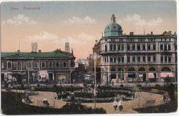 Libau: Rosenplatz - TRAM/STRAßENBAHN - (Liepoja -  Latvia/Lettland/Lettonie) - Letland