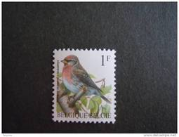 België Belgique Belgium 1992 Vogels Oiseaux Buzin Barmsijsje Sizerin Flammé Fluor Groene Gom 2457FL Yv 2457 MNH ** - 1985-.. Oiseaux (Buzin)