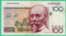 100 Francs - Belgique - Légende Flamande - N°.22409585263 - TB+ - - [ 2] 1831-... : Belgian Kingdom