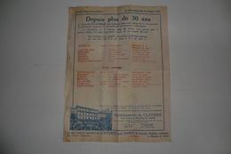 VIEUX PAPIERS DOCUMENTS COMMERCIAUX PUBLICITE. étab. A.CLAVERIE, Faubourg Saint Martin, PARIS. Passage Dans Le Cantal. - Advertising