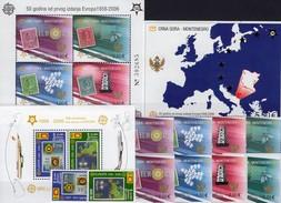 EUROPE CEYLON 1525/6+Bl.102+CRNA GORA 108/1A,B,Blocks 2A+3 ** 103€ Hb Blocs Stamps On Stamp Ships Sheets Ss Bf CEPT - Sri Lanka (Ceylan) (1948-...)