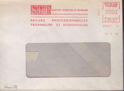 """Lettre Paris 4  15 5 72 """" SEP Societe D'Edition Et De Presse Revues Professionnelles Techniques Et Economiques - Freistempel"""
