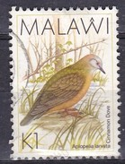 Malawi, 1988 - 1k Cinnamon Dove - Nr.530 Usato° - Malawi (1964-...)
