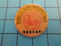 Pin414a Pin's Pins / Beau Et Rare / SPORTS  : CLUB DE KARATE NEUFCHATEAU - Judo