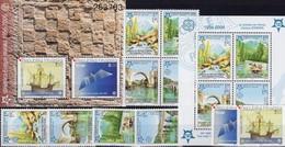 EUROPE Hrvatska 734/5,Bl.27+Bosnien-Mostar 339/2,VB,Block 13A ** 75€ Blocs Stamps On Stamp Ships Sheets S/s Bf CEPT - Croatie