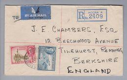 Afrika Gold Coast 1950-02-24 Accra R-Brief Nach Berkshire England - Costa D'Oro (...-1957)