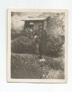 Photographie Militaire Soldat Bléssé De La 2e Db Mai 1945 Photo 4,8x5,7 Cm - Guerre, Militaire
