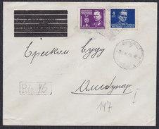 Yugoslavia 1949 Marshal Tito, Registered Letter Sent From Vrsac To Alibunar - 1945-1992 Socialist Federal Republic Of Yugoslavia