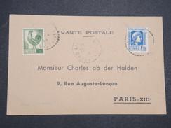 ALGERIE FRANçAISE - Petite Carte Constantine Pour Paris - 1946 - P22077 - Algérie (1924-1962)