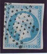 Empire ND 20 C N° 14 Bleu Clair/Laiteux TB. - 1853-1860 Napoléon III.