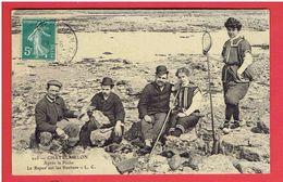 CHATELAILLON  1910 LE REPOS SUR LES ROCHERS CARTE EN BON ETAT - Châtelaillon-Plage