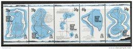 British Indian Ocean Territory (BIOT) 1994 - 18th Century Maps SG147-151 MNH - Face Value £1.66 - Britisches Territorium Im Indischen Ozean