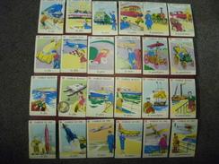 JEU COMPLET Trés Ancien De 42 Cartes à Jouer (7 Familles X 6 Cartes) En Fort Bel état De Conservation - Cartes à Jouer