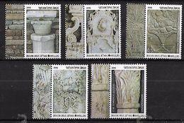 GREECE 2016 Hellas#184-188 MOUNT ATHOS,  Stone Reliefs C Complete Set MNH LUX - Greece