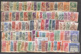 Schweiz Lot Mit 500 Verschiedenen Rundgestempelten Marken (ähnlich) - Lotti/Collezioni