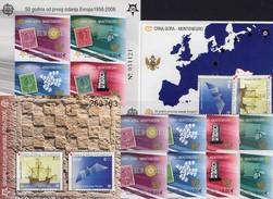EUROPE Croatia 734/5,Bl.27+CRNA GORA 108/1A,B,Blocks 2 B+3 ** 254€ Hb Blocs Stamps On Stamp Ships Sheets Ss Bf CEPT - Croatie