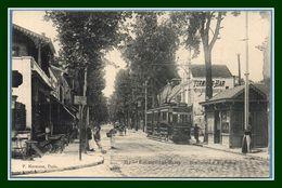 CPA Enghien Les Bains Boulevard D' Argenteuil Tramway Terminus Bar Non Voy. - Enghien Les Bains