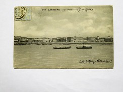C.P.A. ZANZIBAR : Vue Générale, Stamps 1909 - Tanzanie