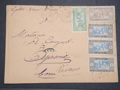 SENEGAL - Env De St Louis Pour La Corse Par Avion - Destination Pas Courante - Joliment Affranchie - 1917 - P22084 - Sénégal (1887-1944)