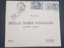 SENEGAL - Env De St Louis Pour Fez (Maroc) Par Avion - 1928 - P22085 - Lettres & Documents