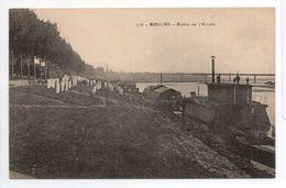 - FRANCE (03) - CPA écrite MOULINS 1916 - Bords De L'Allier (séchage Des Draps) - N° 119 - - Moulins