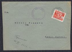 Yugoslavia 1947 Partisans, Letter Sent From Svetozarevo To Bela Crkva - 1945-1992 Socialist Federal Republic Of Yugoslavia