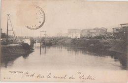 CPA CHINE CHINA TIEN TSIN TINTSIN Pont Sur Le Canal - China