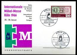 "Germany 1966 Sonderkarte""Intern.Möbel-Messe"" Mit Mi.Nr.482 Und SST""Köln 27-Internationale Möbel-Messe ""1 Karte Used - Fabbriche E Imprese"