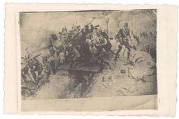 Cpa Guerre, Bataille, Soldats   ( Carte Photo Non Légendée )     ( MI ) - War 1914-18