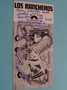 LOS RANCHEROS ( Zie Foto's ) ! - Autographes