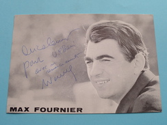 MAX FOURNIER ( Zie Foto's ) ! - Autographes