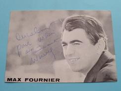 MAX FOURNIER ( Zie Foto's ) ! - Autogramme