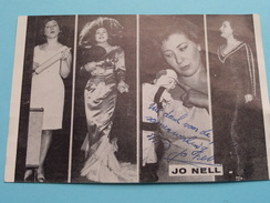 JO NELL ( Zie Foto's ) ! - Autographes