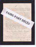 Faire-part Décès M. Léon Marie Théodore MONNIER, Président Conseil Général Du Jura, Voiteur, 1894 - Obituary Notices