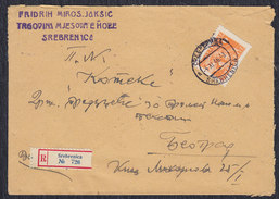 Yugoslavia 1946 Partisans, Registered Letter Sent From Srebrenica To Beograd - 1945-1992 Socialist Federal Republic Of Yugoslavia