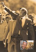 Australia 2015 Honoured By Australia, Nelson Mandela, Maximum Card - Maximum Cards